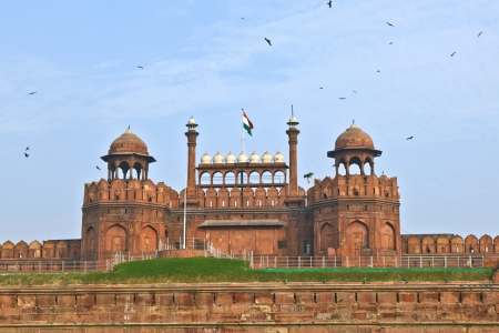 India, Delhi, the Red Fort, it was built by Shahjahan as the Delhi citadel of the 17th Century photo
