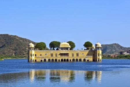 sagar: Water Palace  Jal Mahal  in Man Sagar Lake  Jaipur, Rajasthan, India  18th Century  The palace Dzhal-Mahal  Editorial