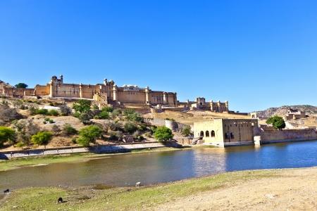 jagmandir: famous Amber Fort in Jaipur Stock Photo
