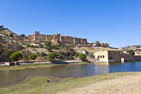 rajput: famous Amber Fort in Jaipur Stock Photo