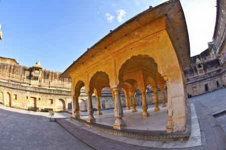 amber fort: beautiful amber fort in Jaipur Stock Photo