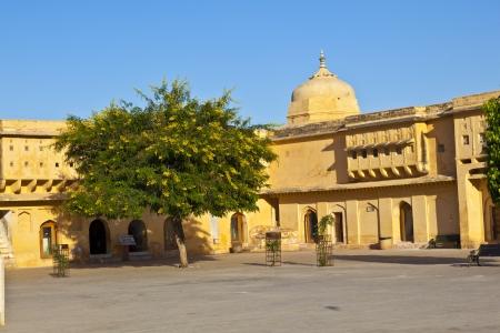 rajput: beautiful amber fort in Jaipur Stock Photo