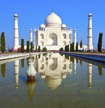 dome of hindu temple: Taj Mahal in India Stock Photo