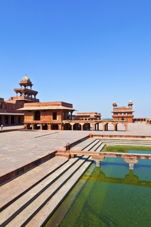 fatehpur: Fatehpur Sikri, India. It is a city in Agra district in India. It was built by the great Mughal emperor, Akbar beginning in 1570.