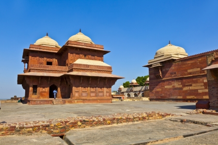 Fatehpur Sikri, India. It is a city in Agra district in India. It was built by the great Mughal emperor, Akbar beginning in 1570. photo