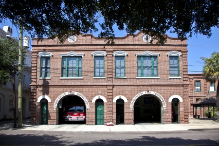 CHARLESTON, USA JULY 21: Charleston Fire Department still in use on July 21,2011 in Charleston, USA. The City of Charleston Fire Department is an ISO rated 3/9 department. Stock Photo - 13760991