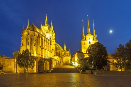 state of mood: Erfurt Cathedral in the evening
