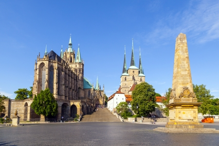 Dom hill of Erfurt Germany Zdjęcie Seryjne