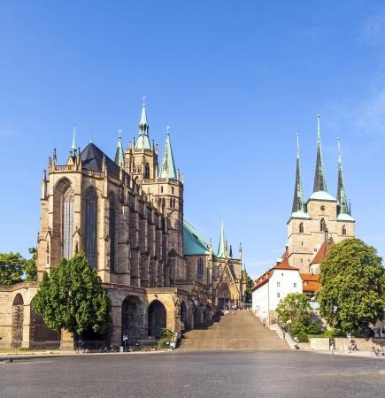 dom: Dom colline de Erfurt en Allemagne Banque d'images