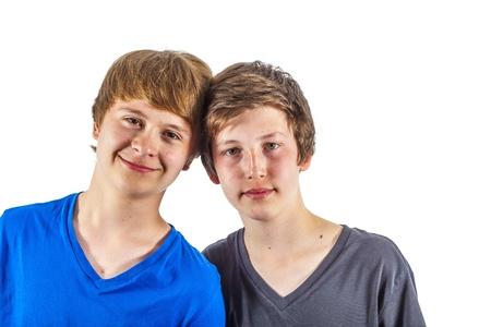 two happy joyful friends enjoy life Stock Photo - 13895699