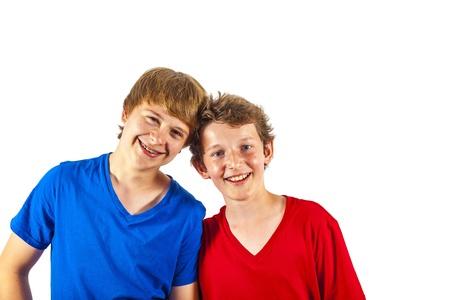 two happy joyful friends enjoy life Stock Photo - 13895594