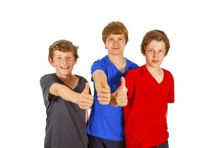 three happy friends enjoy life photo