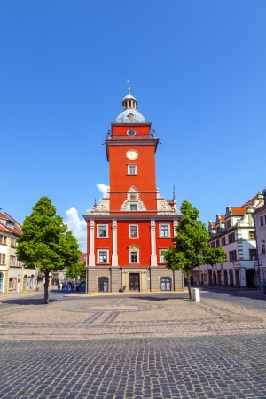 hauptmarkt: Gotha - central market with historic town hall Editorial