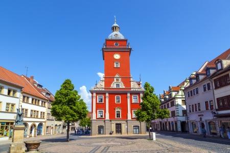 central market: Gotha - mercado central con el hist�rico ayuntamiento