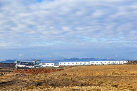 urbanisation project in Playa Blanca with newly built houses Stock Photo
