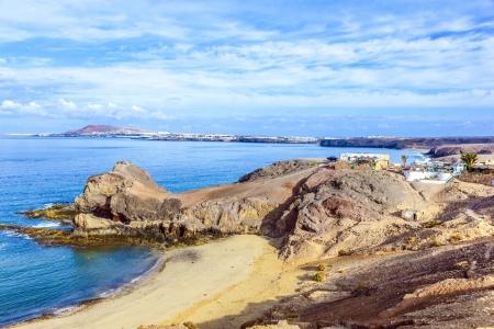 Playa de Papagayo (Parrot's beach) on Lanzarote, Canary islands, Spain Stock Photo - 13942924