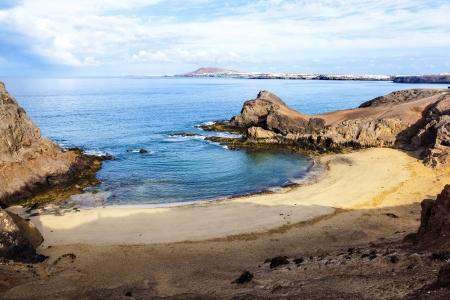 Playa de Papagayo (Parrot's beach) on Lanzarote, Canary islands, Spain Stock Photo - 13942932