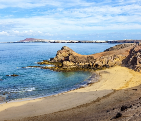Playa de Papagayo (Parrot's beach) on Lanzarote, Canary islands, Spain Stock Photo - 13942828