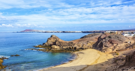 Playa de Papagayo (Parrot's beach) on Lanzarote, Canary islands, Spain Stock Photo - 13942842