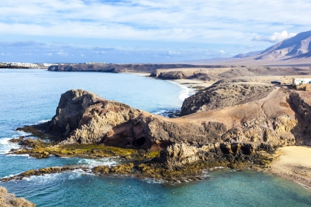 Playa de Papagayo (Parrot's beach) on Lanzarote, Canary islands, Spain Stock Photo - 13942909