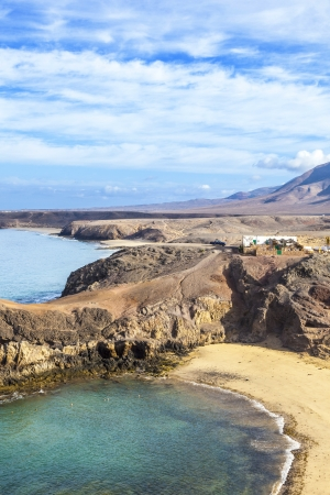 Playa de Papagayo (Parrot's beach) on Lanzarote, Canary islands, Spain Stock Photo - 13942921