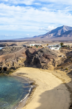 Playa de Papagayo (Parrot's beach) on Lanzarote, Canary islands, Spain Stock Photo - 13942897