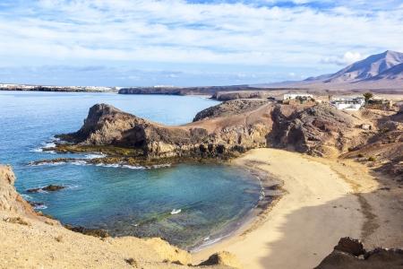 Playa de Papagayo (Parrot's beach) on Lanzarote, Canary islands, Spain Stock Photo - 13942902