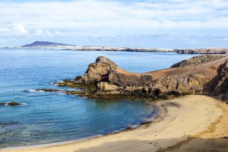 Playa de Papagayo (Parrot's beach) on Lanzarote, Canary islands, Spain Stock Photo - 13942895