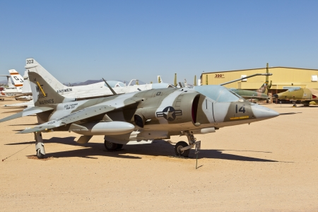 TUSCON, USA - JULY 14: visiting the Pima Air and space Museum at July 14, 2012 in Tuscon, USA. The museum is one of the largest aviation museums in the world and maintains a collection of 700 aircrafts. Stock Photo - 14141973