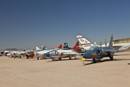 pima: TUSCON, USA - JULY 14: visiting the Pima Air and space Museum at July 14, 2012 in Tuscon, USA. The museum is one of the largest aviation museums in the world and maintains a collection of 700 aircrafts. Editorial