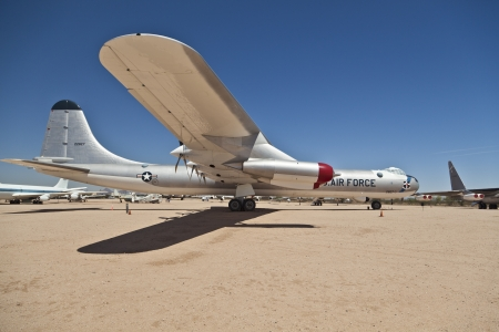 TUSCON, USA - JULY 14: visiting the Pima Air and space Museum at July 14, 2012 in Tuscon, USA. The museum is one of the largest aviation museums in the world and maintains a collection of 700 aircrafts. Stock Photo - 14141964