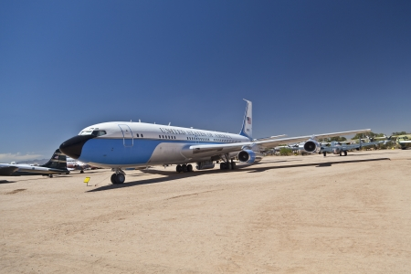 tuscon: TUSCON, USA - JULY 14: visiting the Pima Air and space Museum at July 14, 2012 in Tuscon, USA. The Airforce one was used by Persident Nixon.