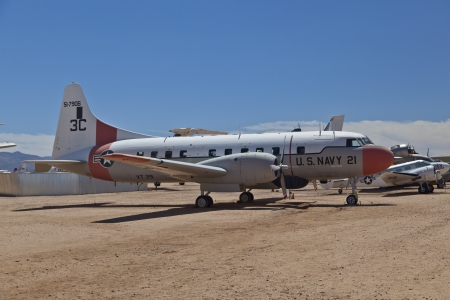 TUSCON, USA - JULY 14: visiting the Pima Air and space Museum at July 14, 2012 in Tuscon, USA. The museum is one of the largest aviation museums in the world and maintains a collection of 700 aircrafts. Stock Photo - 14141968