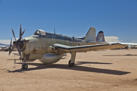 pima: TUSCON, USA - JULY 14: visiting the Pima Air and space Museum at July 14, 2012 in Tuscon, USA. The Fairey AEW 3 Gannet was in use from 1960 to 1978.