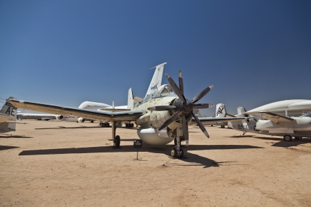 TUSCON, USA - JULY 14: visiting the Pima Air and space Museum at July 14, 2012 in Tuscon, USA. The Fairey AEW 3 Gannet was in use from 1960 to 1978. Stock Photo - 14141965