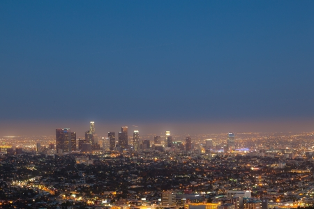 cityview of Los Angeles by night photo