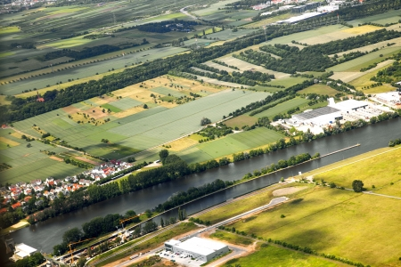 aerial landscape view with river Main in Germany Stock Photo - 14288767