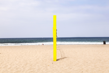 volleyball post at the beach in blue Stock Photo - 14313251