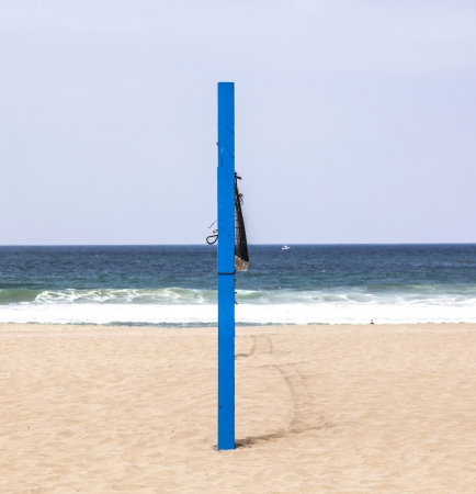 volleyball post at the beach in blue Stock Photo - 14313177