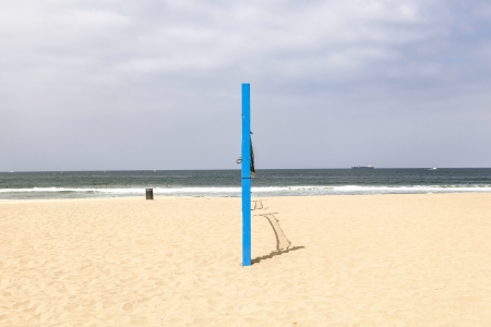 volleyball post at the beach in blue Stock Photo - 14313281