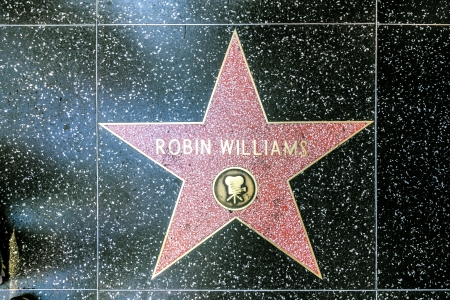 blvd: HOLLYWOOD - JUNE 26: Robin Williams star on Hollywood Walk of Fame on June 26, 2012 in Hollywood, California. This star is located on Hollywood Blvd. and is one of 2400 celebrity stars.