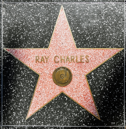 charles county: HOLLYWOOD - JUNE 26: Ray Charles star on Hollywood Walk of Fame on June 26, 2012 in Hollywood, California. This star is located on Hollywood Blvd. and is one of 2400 celebrity stars.