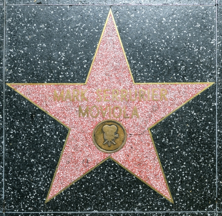 blvd: HOLLYWOOD - JUNE 26: Mark Serrurier Moviolas star on Hollywood Walk of Fame on June 26, 2012 in Hollywood, California. This star is located on Hollywood Blvd. and is one of 2400 celebrity stars.