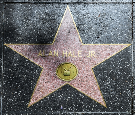 alan: HOLLYWOOD - JUNE 26: Alan Hales star on Hollywood Walk of Fame on June 26, 2012 in Hollywood, California. This star is located on Hollywood Blvd. and is one of 2400 celebrity stars.