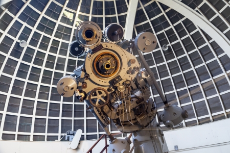 LOS ANGELES, USA - June 10: people visit the museum of the Griffith observatory  on June 10, 2012 in Los Angeles, USA.  The Zeiss Refractors of Griffith Observatory from 1935 is open to public and free due to Griffiths will.