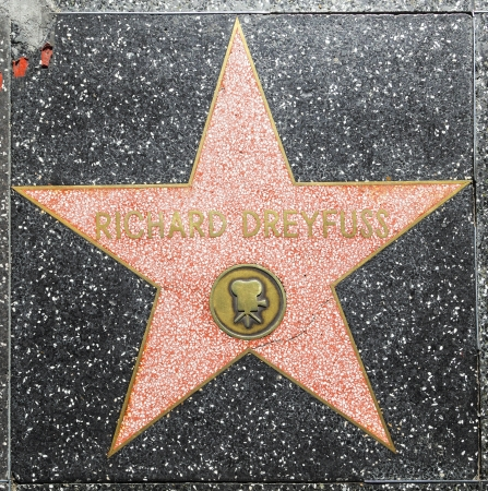 blvd: HOLLYWOOD - JUNE 26: Richard Dreyfuss star on Hollywood Walk of Fame on June 26, 2012 in Hollywood, California. This star is located on Hollywood Blvd. and is one of 2400 celebrity stars.