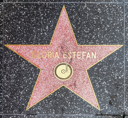 gloria: HOLLYWOOD - JUNE 26: Gloria Estefans star on Hollywood Walk of Fame on June 26, 2012 in Hollywood, California. This star is located on Hollywood Blvd. and is one of 2400 celebrity stars.