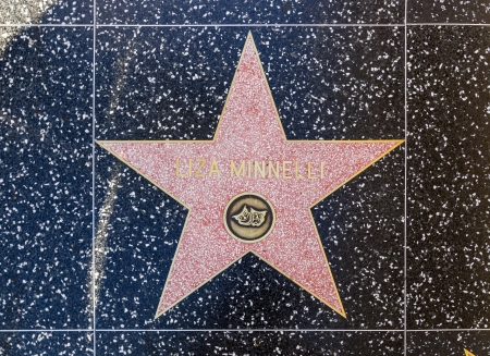 blvd: HOLLYWOOD - JUNE 26: Liza Minellis star on Hollywood Walk of Fame on June 26, 2012 in Hollywood, California. This star is located on Hollywood Blvd. and is one of 2400 celebrity stars.