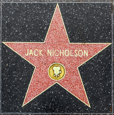 walk of fame: HOLLYWOOD - JUNE 26: Jack Nicholsons star on Hollywood Walk of Fame on June 26, 2012 in Hollywood, California. This star is located on Hollywood Blvd. and is one of 2400 celebrity stars.
