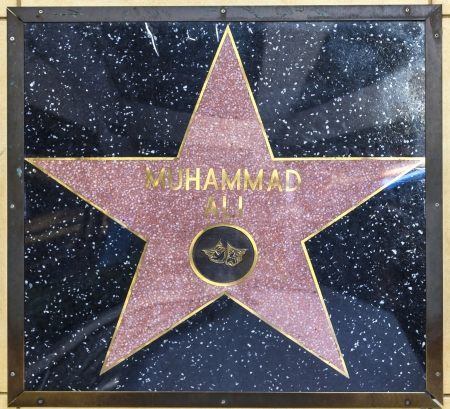 blvd: HOLLYWOOD - JUNE 26:Muhammad Alis star on Hollywood Walk of Fame on June 26, 2012 in Hollywood, California. This star is located on Hollywood Blvd. and is one of 2400 celebrity stars.